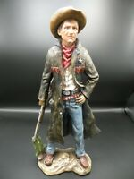 Western Cowboy Town Sheriff  Figure Sculpture Statue  Large Hand Painted New