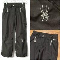 Spyder Kids Girls Snow Ski Pants sz 8 S Small, Insulated Metallic & Embellished