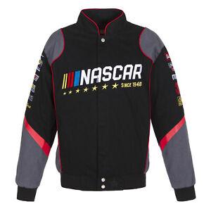 Nascar Generic  JH Design Black  Gray Cotton Twill Jacket new