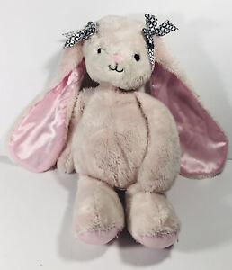 "Lambs & Ivy Pink Bunny Rabbit Gigi 10"" Stuffed Plush Long Ears Bows Satin"