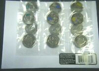 2011 Canada Legendary Nature RCM Mint Set of Twelve 25 Cents UNC Gem BU!!