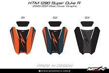 KTM 1290 Superduke R 2020-2021 Passenger Pillion Seat Cover Graphic Decal