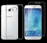 Samsung Galaxy A8 TPU Silikon Schutz Hülle Cover Bumper Case + Panzerglasfolie