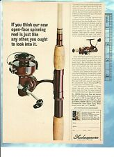 Vintage 1964 SHAKESPEARE 2062NL SPINNING FISHING REEL Color Advertisement