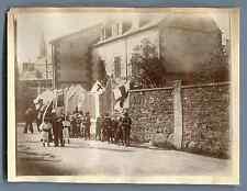 France, Saint Quay (Côtes d'Armor), Procession religieuse  Vintage citrate