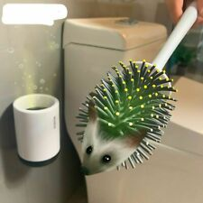 Silicone Toilet Brush Soft Bristle Wall-mounted Bathroom Toilet Brush Holder Set