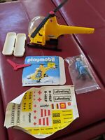 Playmobil USA System Helicopter Set 1909 Medical Vintage Rare Yellow