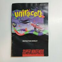 Uniracer Instruction Booklet MANUAL ONLY! SNES, Super Nintendo