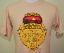 Vintage Operation Desert Storm t-shirt tan large/Xl support troops Iraq 1990-91