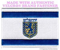 JERUSALEM FLAG PATCH ISRAEL CITY EMBROIDERED SOUVENIR w/ VELCRO® Brand Fastener