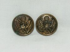 Vintage US Army Uniform Brass Buttons Lot of 2 Large WW1 or WW2