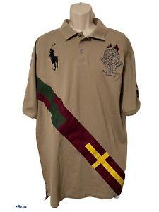 Polo Ralph Lauren Big Pony Bleecker St Crest SS Rugby Shirt Mens 4XL NWT