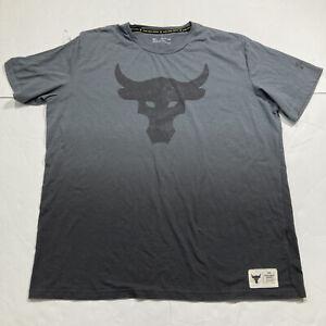 Under Armour Mens UA Project Rock Brahma Bull T-Shirt Size XXL