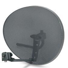 80cm Satellite Dish Zone 2 + Hybrid LNB For Sky Q 6-Output 2 x Wideband 4 x Quad