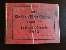 THE CHARLES VILLIERS CHAPMAN BOOK OF SPORTING RECORDS 1922 (ROWING)
