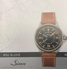 Sinn 856 B-Uhr limited. Flieger Beobachtungsuhr. Limitiert auf 856 Stück.