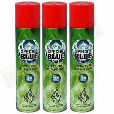 3x Special Blue 5x Refined Butane Gas Extra Purified Fuel Torch Lighter Refill