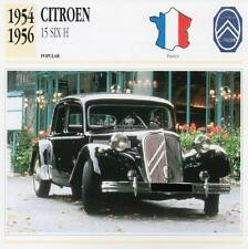 1954-1956 CITROEN 15 SIX H Classic Car Photograph / Information Maxi Card