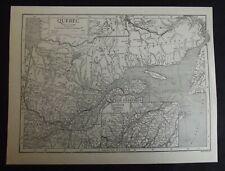 Vintage Map: Quebec, Canada, by Emery Walker, 1926, B/W