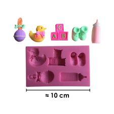 Moule silicone 3D Bébé kit pour pâte à sucre, cake design, décoration