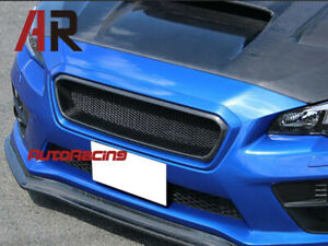 Carbon Fiber Front Bumper Grille CS Style For 2015-2017 SUBARU WRX STI SEDAN CF