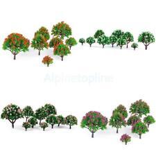 Lot 40x Flower Trees Model Train Scenery Wargame Diorama HO N Z Scale 1:75-1:500