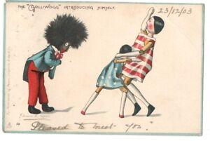PC FLORENCE UPTON BLACK DOLL & PEG DOLLS ARTIST SIGNED POSTED 1903