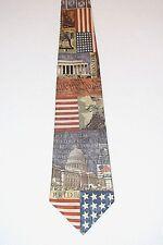 """Eagles Wings Patriotic We The People In God We Trust 57.5"""" L 100% Silk Neck Tie"""