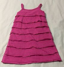 Kids Girls Hanna Andersson Striped Layered Dress Suze 110 (5-6X)