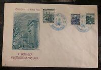 1940 Josefov Bohemia Moravia Germany First Day Cover Philatelic Exhibition