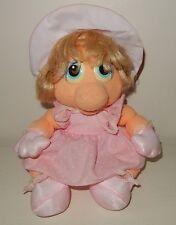 Peluche Plush Vintage Baby Miss PIGGY Peggy Muppets show 1986 RAINBOW TOYS 28cm