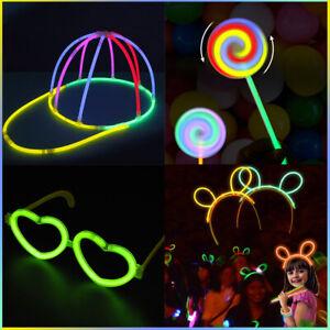 Multiple Shape Glow Sticks Bracelets Neon Color Party Favors Pack with Connector