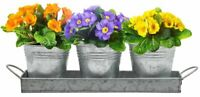 Sorbus Planter Pots and Tray Caddy, 3 Buckets with Handles, Great Windowsill...