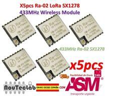 5pcs Ra-02 SX1278 433MHz Wireless Serial Port UART Interface LoRa Spread Ra02