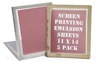 Emulsion Sheets - 5 Pack 11x14 Screen Printing