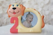 """Cute Puppy Number 2 Two Year Old Children Picture Photo Frame 3.75"""" x 4.75"""""""