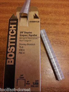 Stanley Bostitch STCR2619 Staples. Lengths of 6mm, 9mm & 12mm