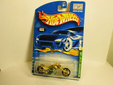 Hot Wheels 2001 TREASURE HUNT  #5 BLAST LANE gold TH 01  motorcycle bike harley