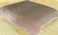 Soft plush Flannel Fleece Throw Full&Queen Size Blanket Taupe Brand New