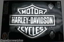harley davidson motorcycle HD #1 decal sticker chrome Bar & Shield logo emblem