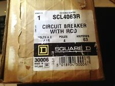 SQUARE D SCL4063R 63Amp Circuit Breaker with RCD 240/415v 4 Pole  * BNIB *