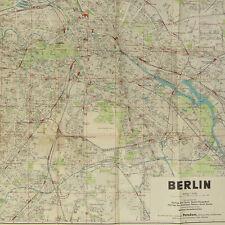 """Berlin City Street Map 1936 - Size 24x32"""" Olympia w/ Reichssportfeld + Potsdam"""