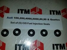 Audi 100,200,4000,5000,80,90, Quattro VW Quantum 5 Cyli. Fuel Injector Seals (5)