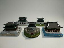 Korean Traditional Architecture Structure Miniature Figure Palace Fortress Gate