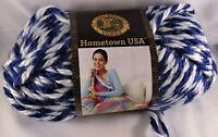 Lion Brand Hometown USA Yarn Wildcats Super Bulky Knit Crochet knitting Blue