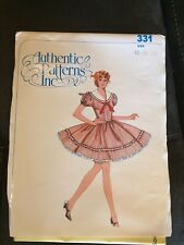 Authentic Patterns Sewing Pattern Ladies Western Square Dance Dress Misses UPICK