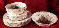 Lot Of 19 Johnson Bros Sheraton England - Plates Bowls Bread/Butter Serving Bowl