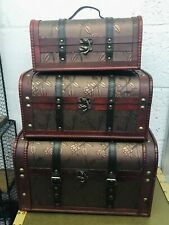 Large Rustic Wooden Boxes  Style Trunk Treasure Chest Vintage Storage