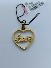 Tous Vermeil Sterling Silver Heart Love Pendant with Spinel