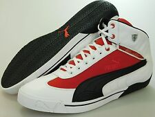 NEW Mens Puma Ferrari Speed Cat 2.9 MID SF White-Rosso Corsa 302633 01 SIZE 10.5
